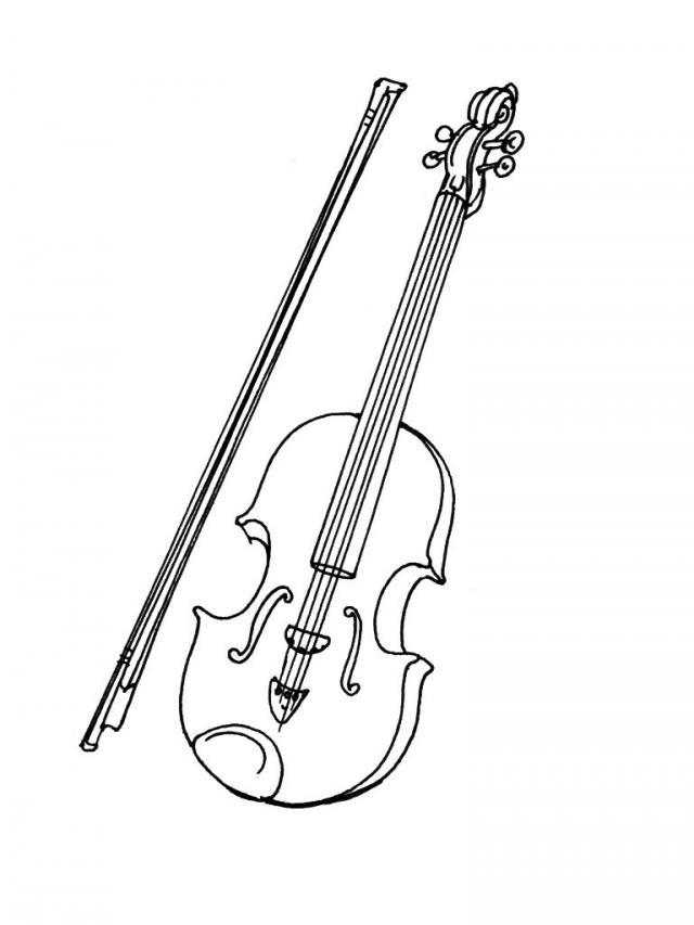 раскраски скрипки раскраска скрипка и смычок раскраски для